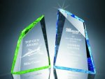 Faceted Mountain Cut Acrylic Award Golf Awards