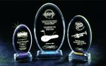 Beveled Oval Acrylic Award Golf Awards