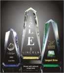 Faceted Obelisk Acrylic Award Golf Awards