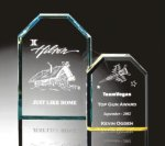 Beveled Clipped Corner Plaque Golf Awards