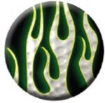 Ball Marker Black/White Flames Golf Awards