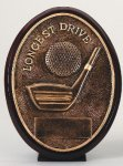 Longest Drive Oval Golf Awards