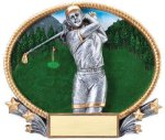 3D Oval Golf F Golf Awards