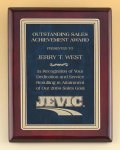 Rosewood Piano Finish Plaque with Marble Design Brass Plate Marble Awards
