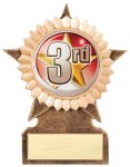 2 Star Insert Holder Multi-Activity Mylar Resin Trophy Awards
