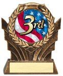 2 Wreath Insert Holder Multi-Activity Mylar Resin Trophy Awards