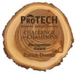 Wood Log Plaque Award Name Badges | Plates