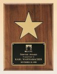 American Walnut Plaque with 5 Gold Star Patriotic Awards