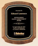 American Walnut Notched Plaque Patriotic Awards