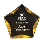 Black/Gold Luminary Star Acrylic Award Patriotic Awards