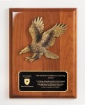 Walnut Piano Finish Eagle Plaque Patriotic Awards