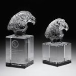 Eagle Head II Crystal Award Patriotic Awards