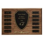 Cast Bronze Trim Perpetual Plaque Patriotic Awards