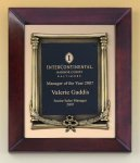 Cherry Finish Wood Frame Plaque with Wreath Religious Awards