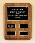 Solid American Walnut Quarterly Award Plaque Religious Awards