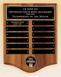 American Walnut Perpetual Plaque with Medallion Religious Awards