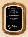 American Walnut Plaque with Florentine Border Religious Awards
