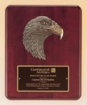 Antique Eagle Rosewood Piano Finish Plaque Religious Awards