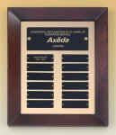 Cherry Finish Wood Frame Perpetual Plaque Sales Awards