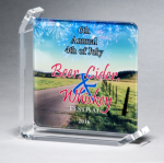 Sublimated Glass Awards Sales Awards