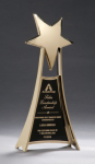Star Casting Trophy in Gold Tone Finish Sales Awards