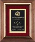 Walnut Frame Corporate Plaque Sales Awards