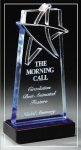 Blue Lasered Star Accent On Base Sales Awards