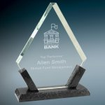 Diamond Premier Glass with Black Marble Base Sales Awards