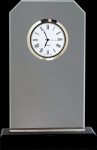 Clipped Corners Clear Glass Clock with Black Base Sales Awards