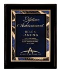 Black Piano Finish Plaque Award Sales Awards
