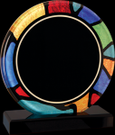 Round Stained Glass Acrylic with Black Base Sales Awards