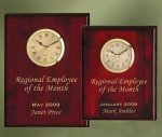 Piano Finish Wood Plaque Clock Secretary Gift Awards