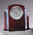 Rosewood  and Aluminum Clock Secretary Gift Awards