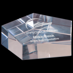 Crystal Pentagon Paperweight Secretary Gift Awards