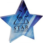 Full Color Star Acrylic Paperweight Secretary Gift Awards